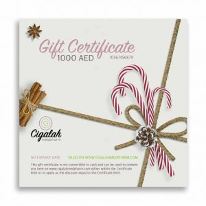 Christmas Gift Certificate Gift Card 1000 AED