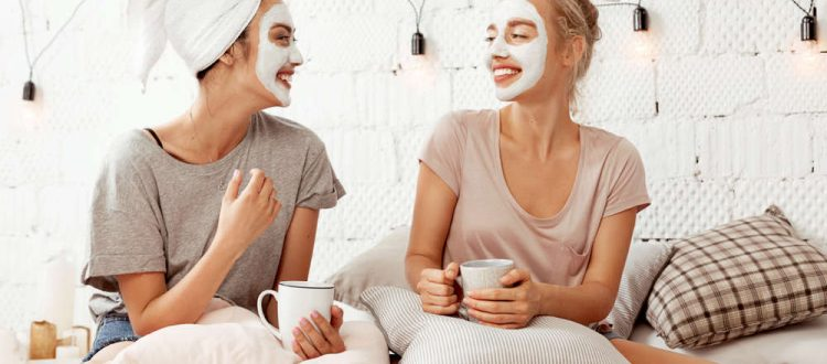 Two young women are discussing the 10 best skin care tips of all time