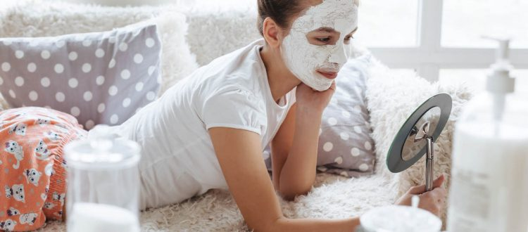 Young woman are doing Deep Cleansing Facial Treatment in Dubai